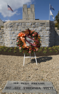 The Class of 1959 placed a memorial wreath during its 50th reunion in October 2009.