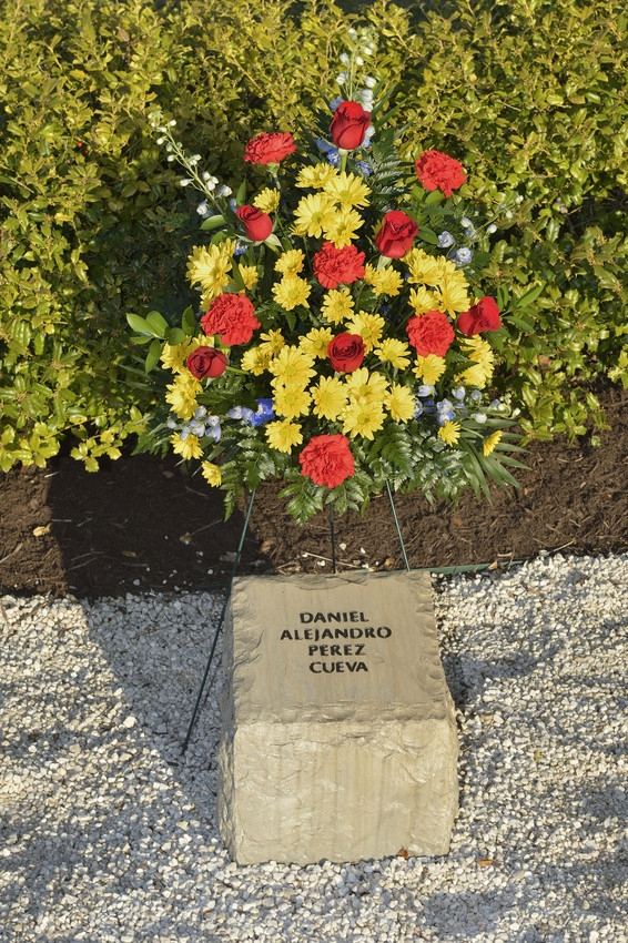 Daniel Alejandro Perez Cueva stone at April 16 Memorial