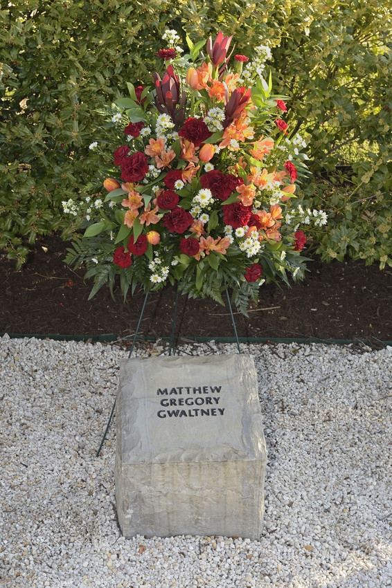 Matthew Gregory Gwaltney stone at April 16 Memorial