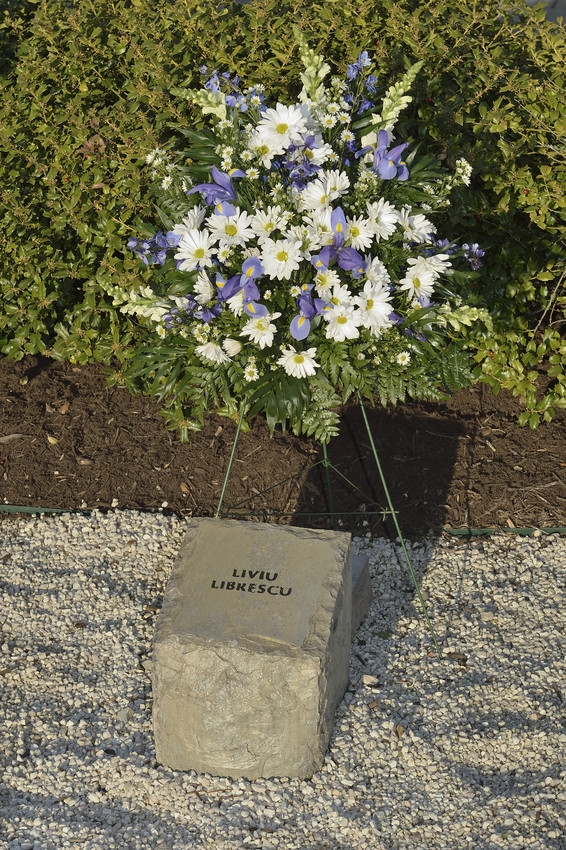 Liviu Librescu stone at April 16 Memorial