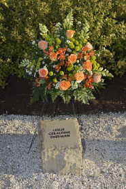 Leslie Geraldine Sherman stone at April 16 Memorial