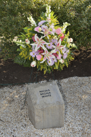 Nicole Regina White stone at April 16 Memorial